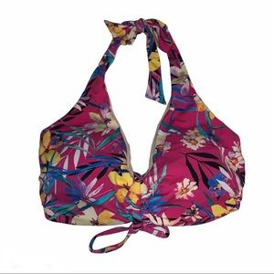 Swimsuits For All Tropical Halter Bikini Top